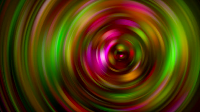 rotating spiral moving around colored different patterns abstract