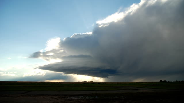 Rotating Supercell Thunderstorm- Timelapse Sequence