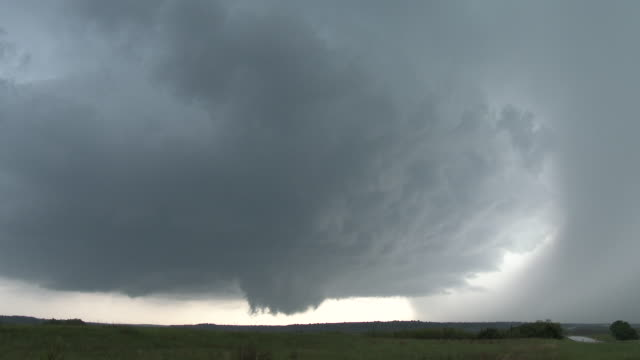 Rotating Supercell Thunderstorm & Wall Cloud (Time Lapse Sequence)