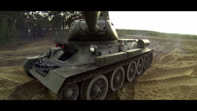 rotating tank turret - matte image technique stock videos & royalty-free footage