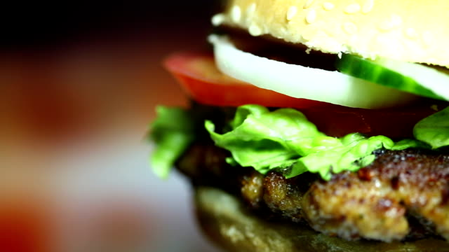 rotating tasty hamburger - hamburger stock videos & royalty-free footage