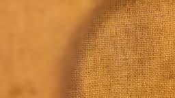 Rotating the burlap texture through a magnifying glass