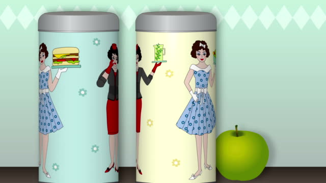 rotating tin cans - overweight or slim - strawberry milkshake stock videos & royalty-free footage