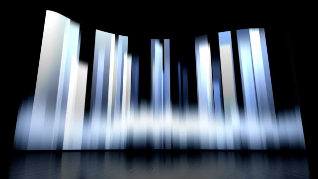 rotating vertical bars background set - stage set stock videos & royalty-free footage