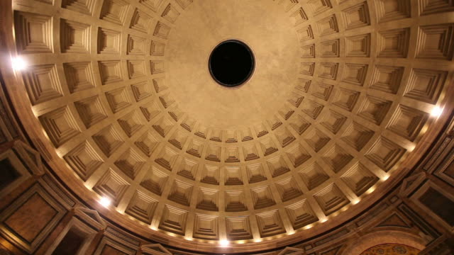 Rotierende Video Der Pantheon-Tempel Impluvium