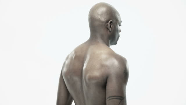rotating view of an african american man - side view stock videos & royalty-free footage