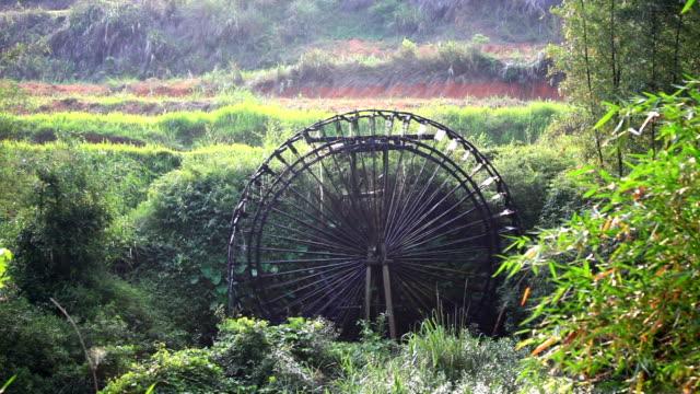 rotating water wheel - water wheel stock videos & royalty-free footage