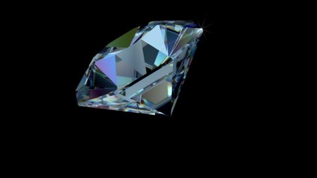 回転ホワイト、ブルーとピンクのシングルカットダイヤモンドに輝く