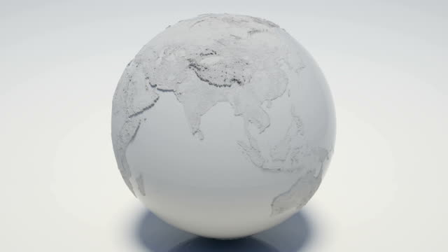 rotating white globe loopable - matte white stock videos & royalty-free footage