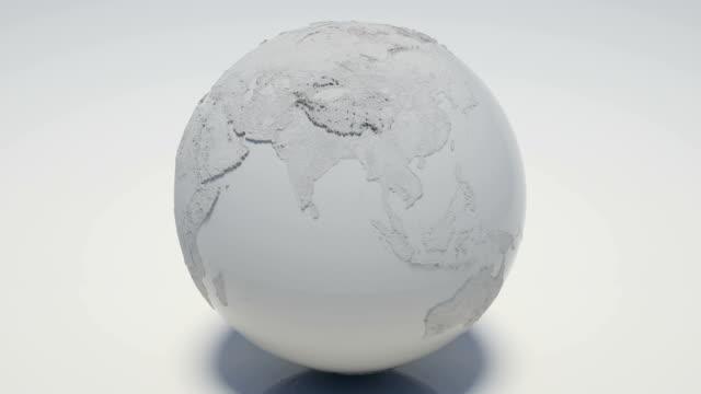 Rotating White Globe Loopable