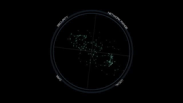 UI Rotation circle - Hi-tech Stock Video