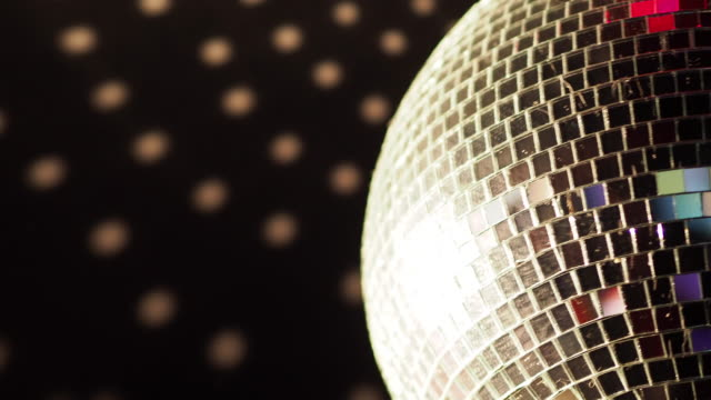 rotation shot of mirror ball indoors - expertise stock videos & royalty-free footage