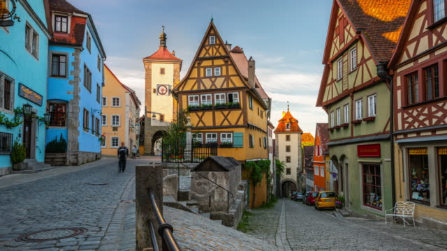 rothenburg ob der tauber, bavaria, germany - baviera video stock e b–roll