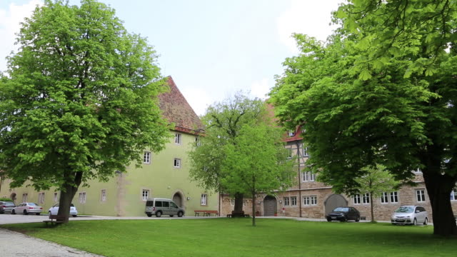 rothenburg ob der tauber, spital coutyard, hospital of the holy ghost - courtyard stock videos and b-roll footage