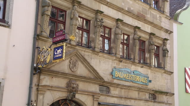 rothenburg ob der tauber, the master builder's house in schmiedgasse street - rothenburg stock videos and b-roll footage