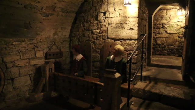 rothenburg ob der tauber, the medieval dungeons - dungeon stock videos & royalty-free footage