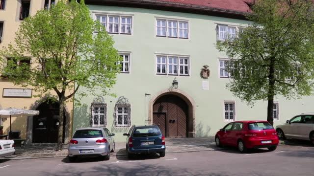 rothenburg ob der tauber, the staudt mansion in herrngasse street  - rothenburg stock videos and b-roll footage