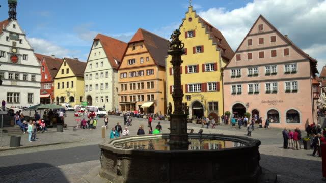 4k - rothenburg ob der tauber - rothenburg stock videos and b-roll footage