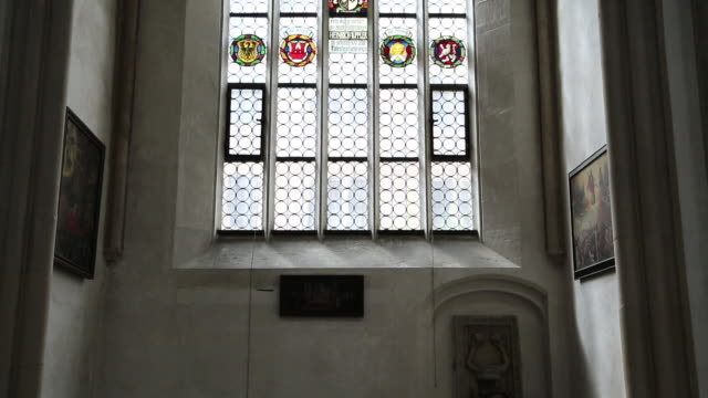 rothenburg ob der tauber, view of toppler chapel in saint jacob's church - ancient stock videos & royalty-free footage
