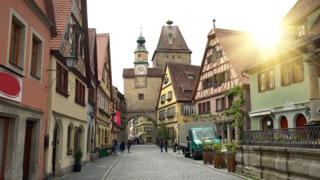 rothenburg ob the tauber, realtime - rothenburg stock videos and b-roll footage