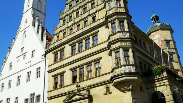 tu rothenburg town hall. - rothenburg stock videos and b-roll footage