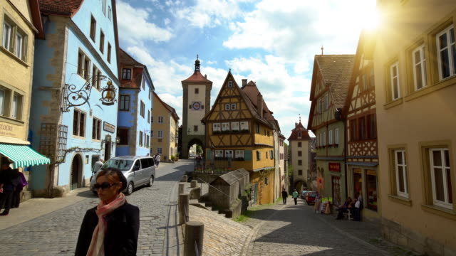 rothenburg whether the tauber, time lapse - rothenburg stock videos and b-roll footage