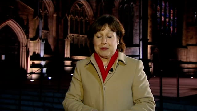 stockvideo's en b-roll-footage met rotherham by-election: strong showing by ukip; ext / night reporter to camera - itv