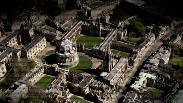 rotherham child abuse scandal: charity calls for national inquiry into child sex abuse; lib oxford: graphic shot air view footage of oxford... - oxford england video stock e b–roll