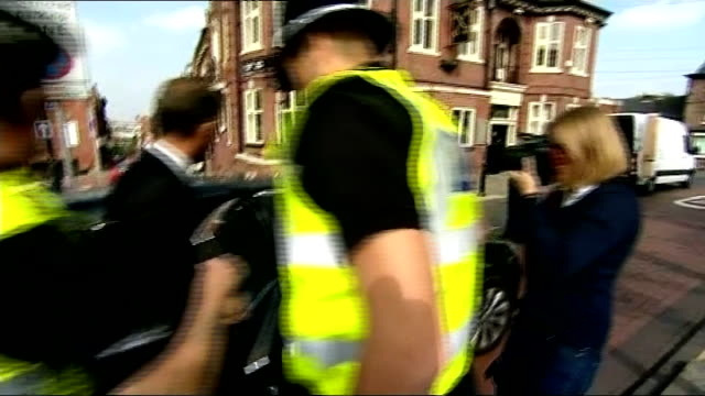 south yorkshire police commissioner shaun wright resigns lib / t11091427 shaun wright to car with police guard as followed by press reporters - rotherham stock videos & royalty-free footage