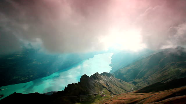 rothorn kulm and lake brienz - lake thun stock videos and b-roll footage
