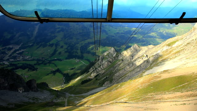 rothorn kulm by cablecar - lake thun stock videos and b-roll footage