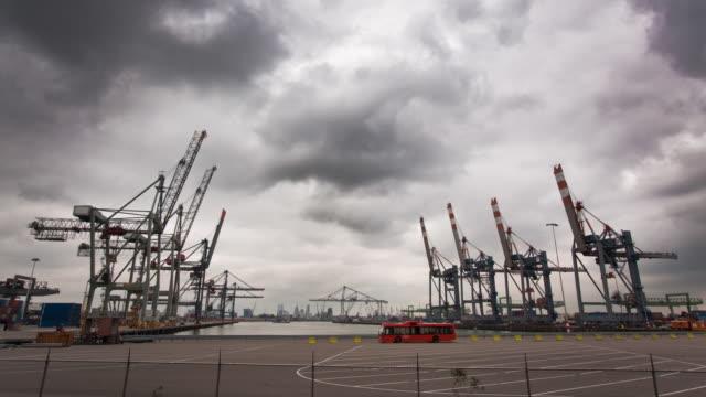 rotterdam harbor - rotterdam stock videos and b-roll footage