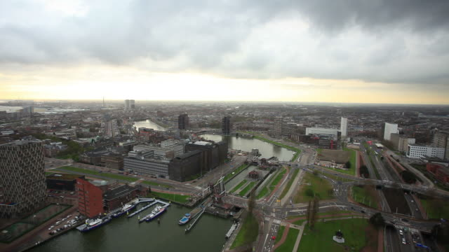 rotterdam harbor,elevated view - rotterdam stock videos & royalty-free footage