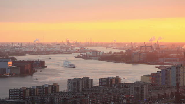 rotterdam harbor,elevated view - harbour stock videos & royalty-free footage