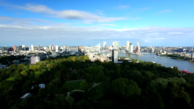 rotterdam skyline, time lapse - rotterdam stock videos & royalty-free footage