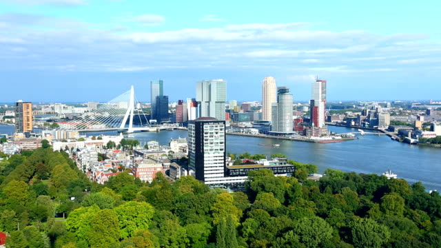 rotterdam skyline - skyline stock videos & royalty-free footage