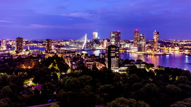 rotterdam skyline - holland stock videos and b-roll footage