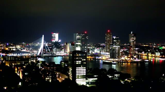 rotterdam skyline - rotterdam stock videos and b-roll footage