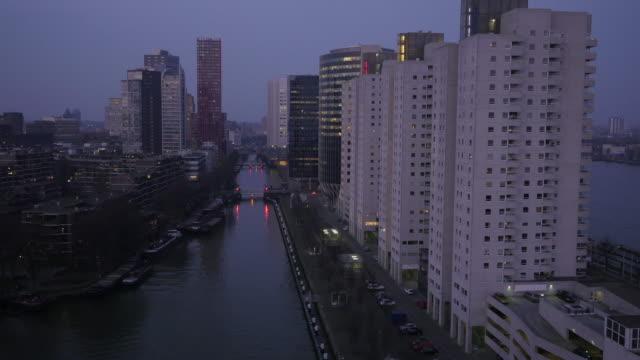 vídeos y material grabado en eventos de stock de horizonte de rotterdam - rotterdam