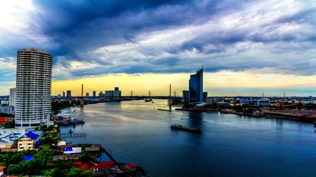 Coucher de soleil sur la ville de Rotterdam