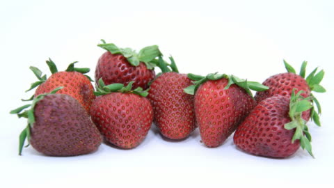vídeos y material grabado en eventos de stock de pudrirse fresas - pudrirse