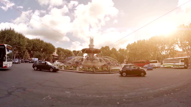 rotunda funtain in aix en provence - lille stock videos & royalty-free footage