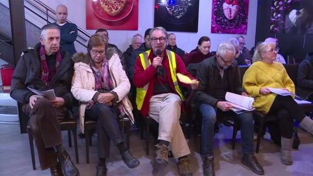 Roubaix residents come together under the auspices of French President Emmanuel Macron's great debate aimed at giving the public a platform to...
