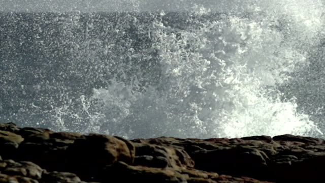 rough coast, big waves - water's edge stock videos & royalty-free footage