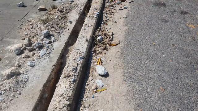 calcestruzzo grezzo - pavement video stock e b–roll