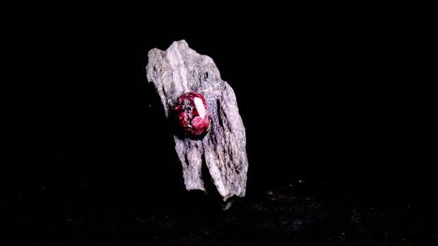 rough garnet mineral - gemology stock videos & royalty-free footage