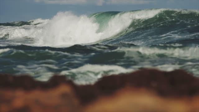 rough mediterranean sea and waves crashing - adriatic sea stock videos & royalty-free footage
