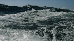 Rough North Sea during winter days sailing