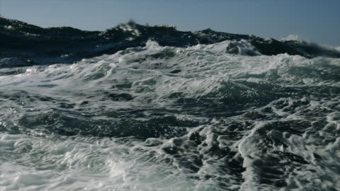 rough north sea during winter days sailing - wave stock videos & royalty-free footage