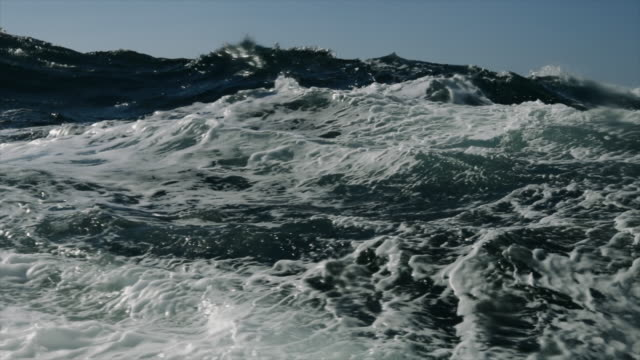 rough north sea during winter days sailing - rough stock videos & royalty-free footage